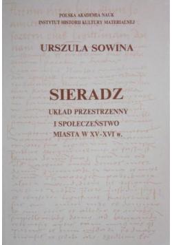 Sieradz układ przestrzenny i społeczeństwo miasta w XV  XVI w