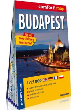 Budapest kieszonkowy laminowany plan miasta 1:15 000