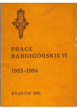 Prace Babiogórskie VI 1983 1984