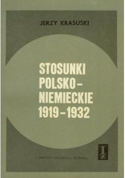 Stosunki polsko - niemieckie 1919 - 1932