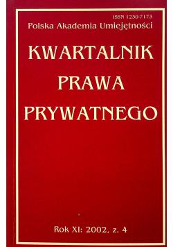 Kwartalnik prawa prywatnego rok XI zeszyt 4