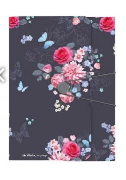 Teczka rysunkowa A4 z gumką Ladylike Flowers
