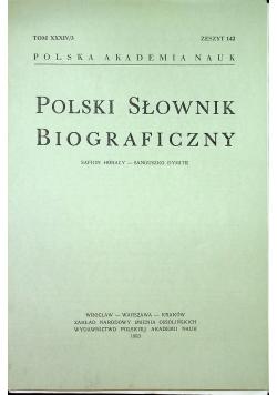 Polski słownik biograficzny Tom XXXIV/3 zeszyt 142
