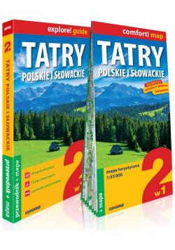 Tatry polskie i słowackie 2w1 przewodnik + mapa