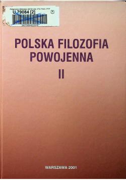 Polska filozofia powojenna II