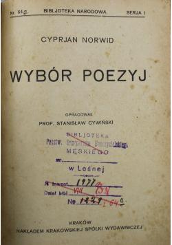 Wybór poezyj Norwida 1924 r.