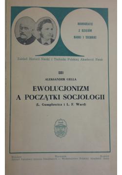 Ewolucjonizm a początki socjologii