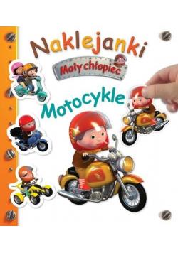 Naklejanki. Mały chłopiec. Motocykle