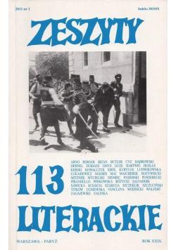 Zeszyty literackie 113 1/2011