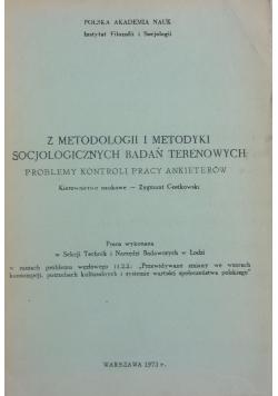 Z metodologii i metodyki socjologicznych badań terenowych
