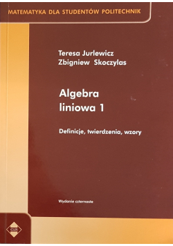 Algebra liniowa definicje twierdzenia wzory