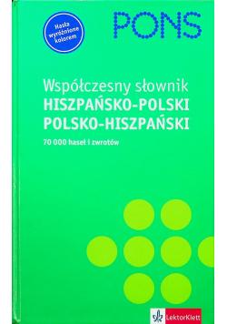 Współczesny słownik hiszpańsko polski polsko hiszpański