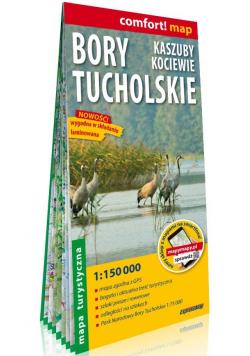 Bory Tucholskie Kaszuby Kociewie mapa turystyczna 1:150 000