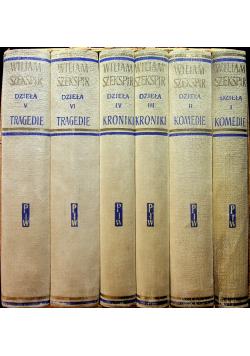 Szekspir Dzieła tomy od 1 do 6