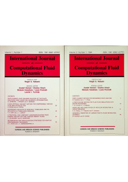 International Journal of Computational Fluid Dynamics Volume 1 i 2