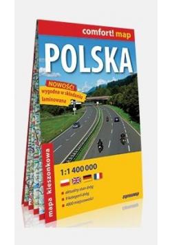 Comfort!map Polska 1:1 400 000 midi mapa w.2019