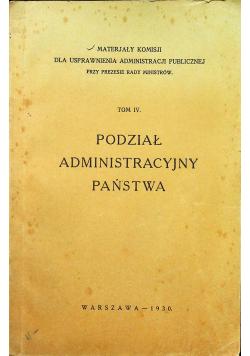 Podział administracyjny państwa tom IV 1930r.