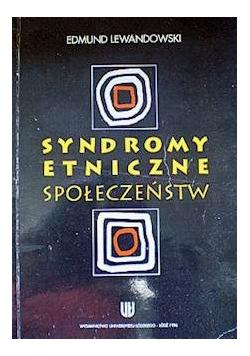 Syndromy etniczne społeczeństw