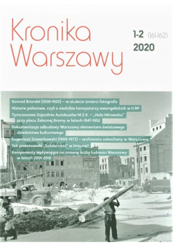 Kronika Warszawy 1-2 (161-162)/2020