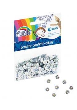 Confetti cekiny kółko srebrne FIORELLO