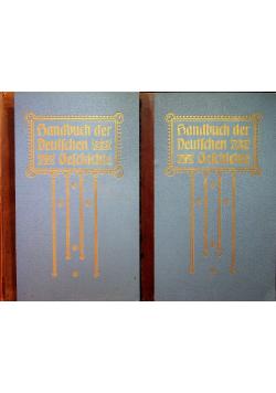 Handbuch der Deutschen Geschichte 2 tomy 1890 r.