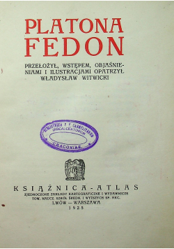 Platona Fedon 1925 r
