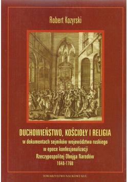 Duchowieństwo, kościoły i religia
