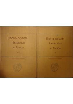 Teoria badań literackich w Polsce 2 tomy