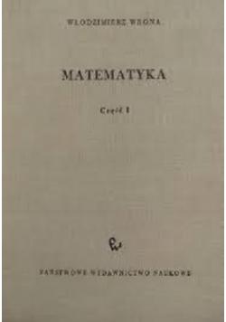 Matematyka część pierwsza