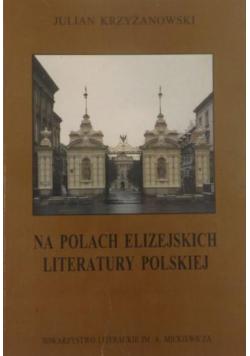 Na polach Elizejskich literatury polskiej