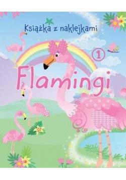 Książka z naklejkami. Flamingi 1