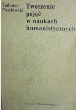 Tworzenie pojęć w naukach humanistycznych