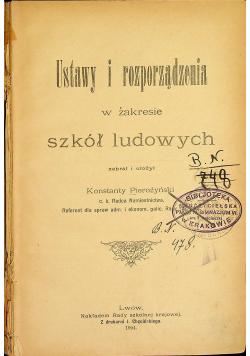 Ustawy i rozporządzenia w zakresie szkół ludowych 1904 r.