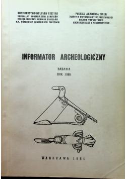 Informator Archeologiczny badania 1980