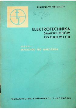 Elektrotechnika samochodów osobowych Zeszyt 1