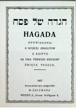Hagada reprint  z 1927 r