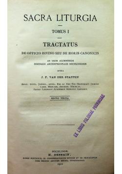 Sacra Liturgia Tomus I i II 1911 r