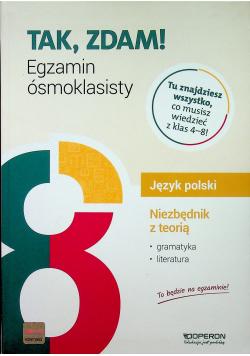 Język polski Niezbędnik z teorią Egzamin ósmoklasisty