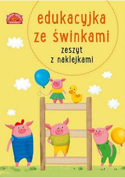 Edukacyjka ze świnkami Zeszyt z naklejkami