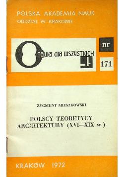 Polscy teoretycy architektury XVI - XIX w