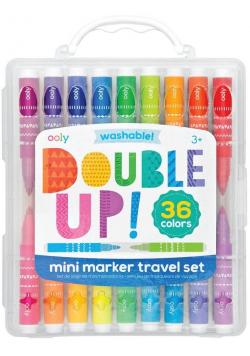 Flamastry mini podróżne Double up 36 kolorów