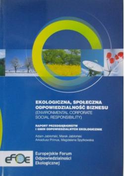 Ekologiczna społeczna odpowiedzialność biznesu