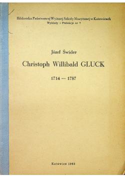 Christoph Willibald Gluck 1714 - 1787
