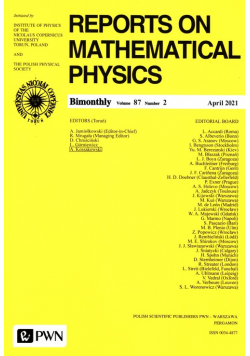 Reports on Mathematical physics 87/2 2021