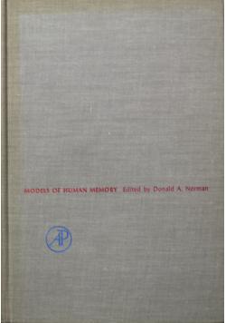 Models of human memory