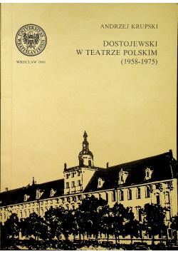 Dostojewski w teatrze polskim
