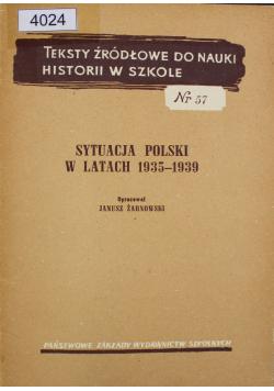 Sytuacja Polski w latach 1935 - 1939