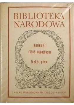 Frycz Modrzewski Wybór Pism