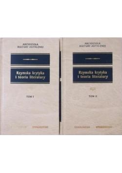 Rzymska krytyka i teoria literatury 2 tomy