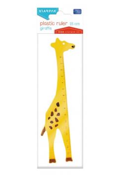 Linijka plastikowa 15cm Żyrafa